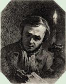 Self-portrait with a candle, 1845