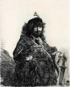 Rembrandt self portrait with a sword