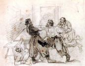 Arrest of Pugachev. Sketch