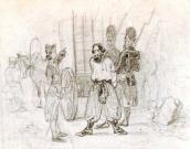 Suvorov sends Pugachev to Moscow. Sketch