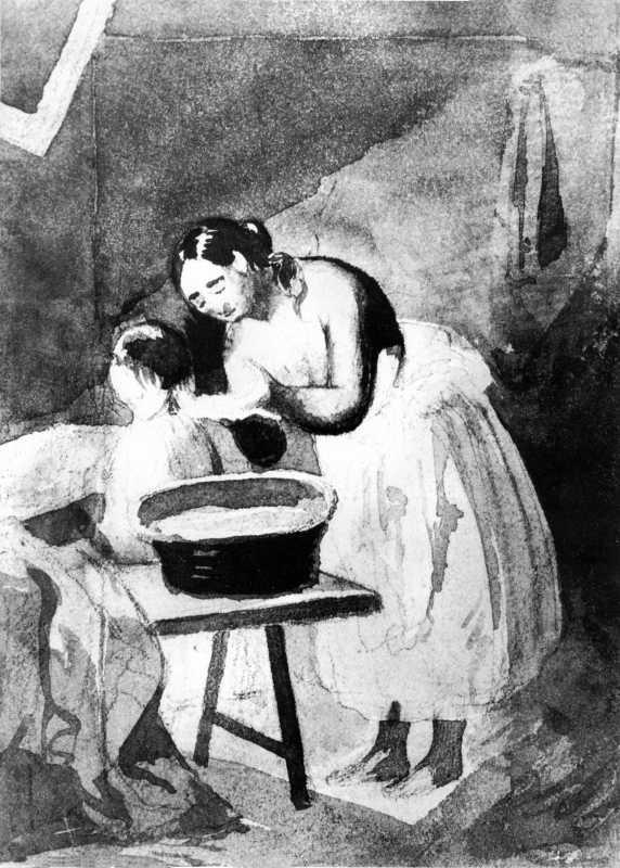 Taras Shevchenko. The mother washes…