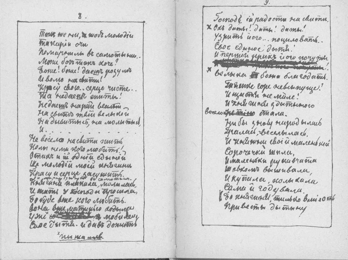 «Мала книжка» Т. Шевченка. С. 8 – 9…