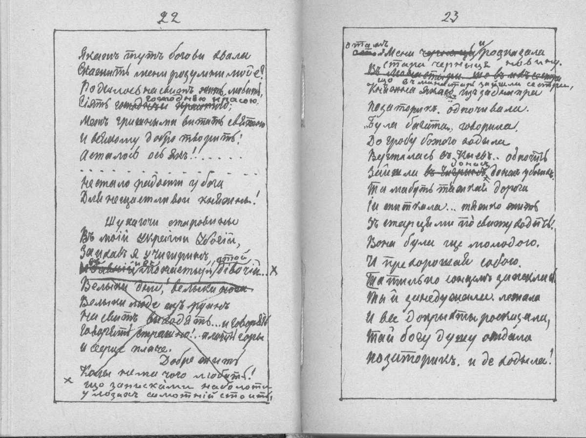 «Мала книжка» Т. Шевченка. С. 22 – 23…
