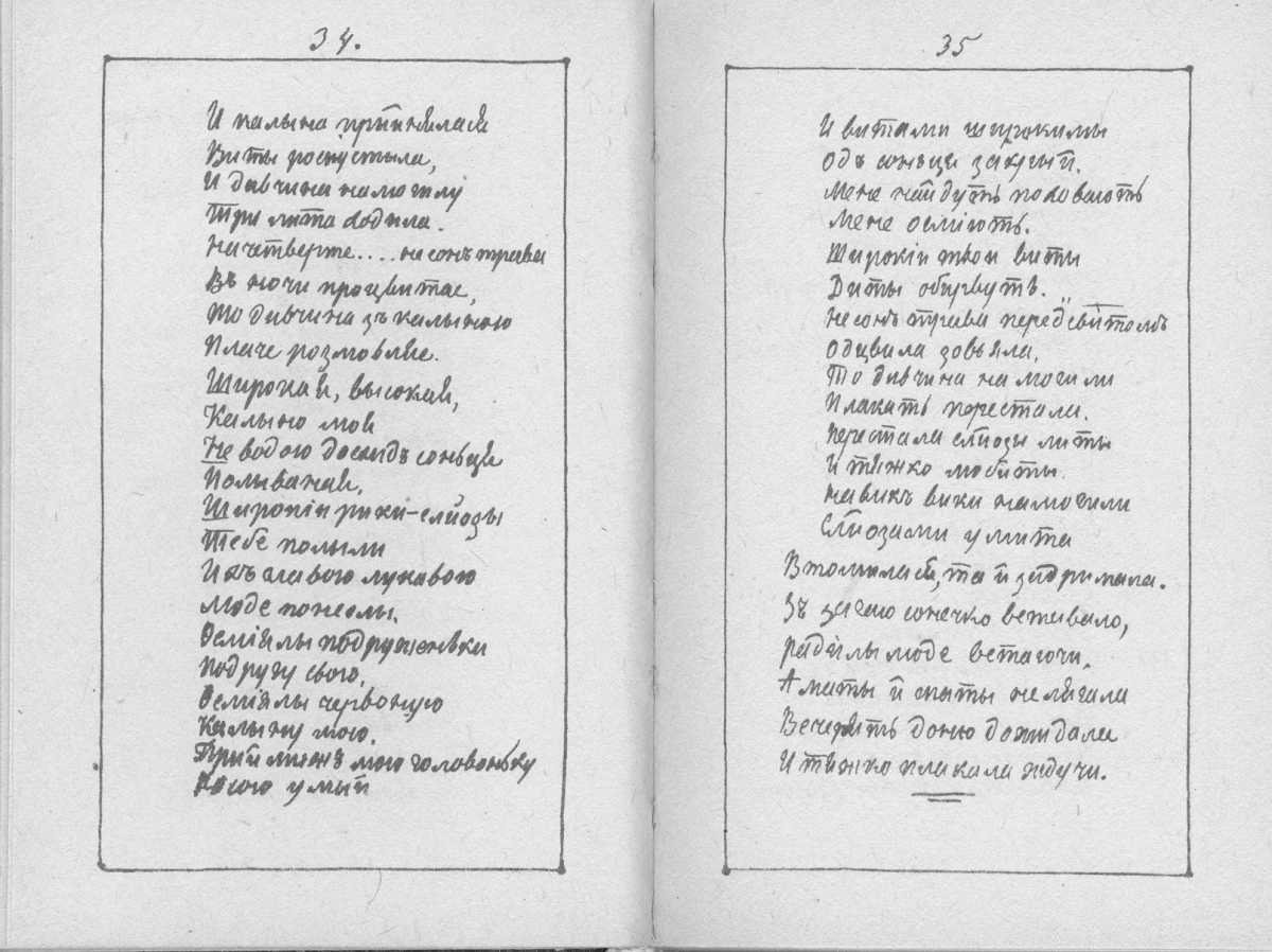 «Мала книжка» Т. Шевченка. С. 34 – 35…