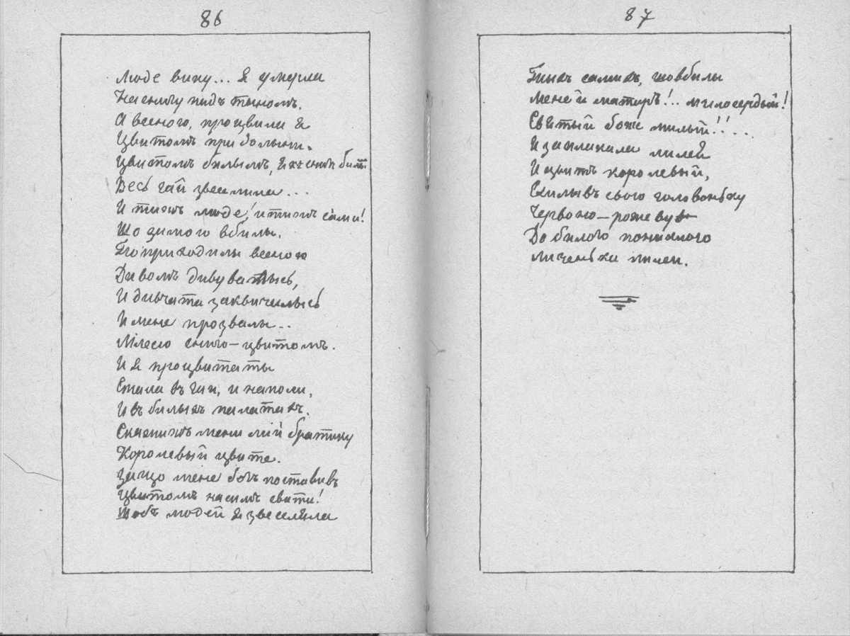«Мала книжка» Т. Шевченка. С. 86 – 87…
