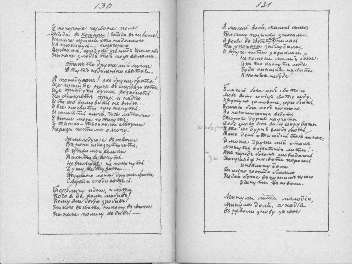 «Мала книжка» Т. Шевченка. С. 130 –…