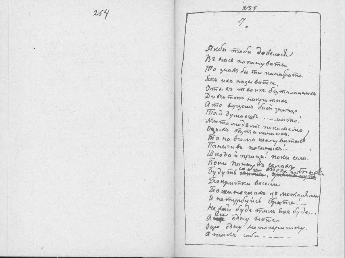 «Мала книжка» Т. Шевченка. С. 254 –…