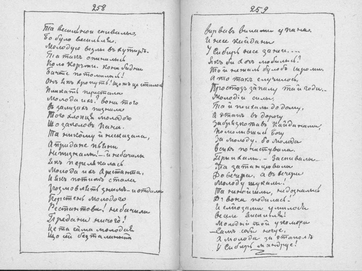 «Мала книжка» Т. Шевченка. С. 258 –…