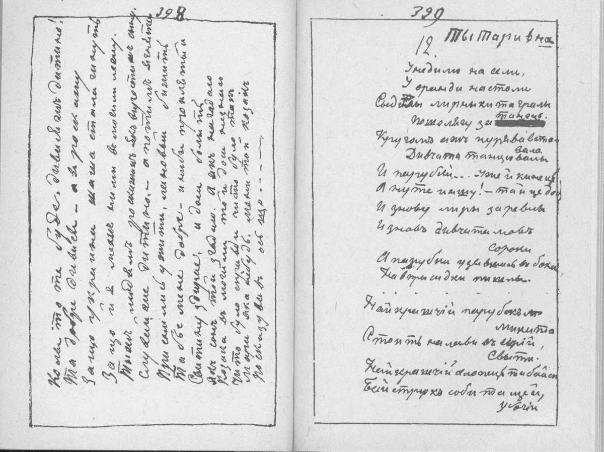 «Мала книжка» Т. Шевченка. С. 398 –…