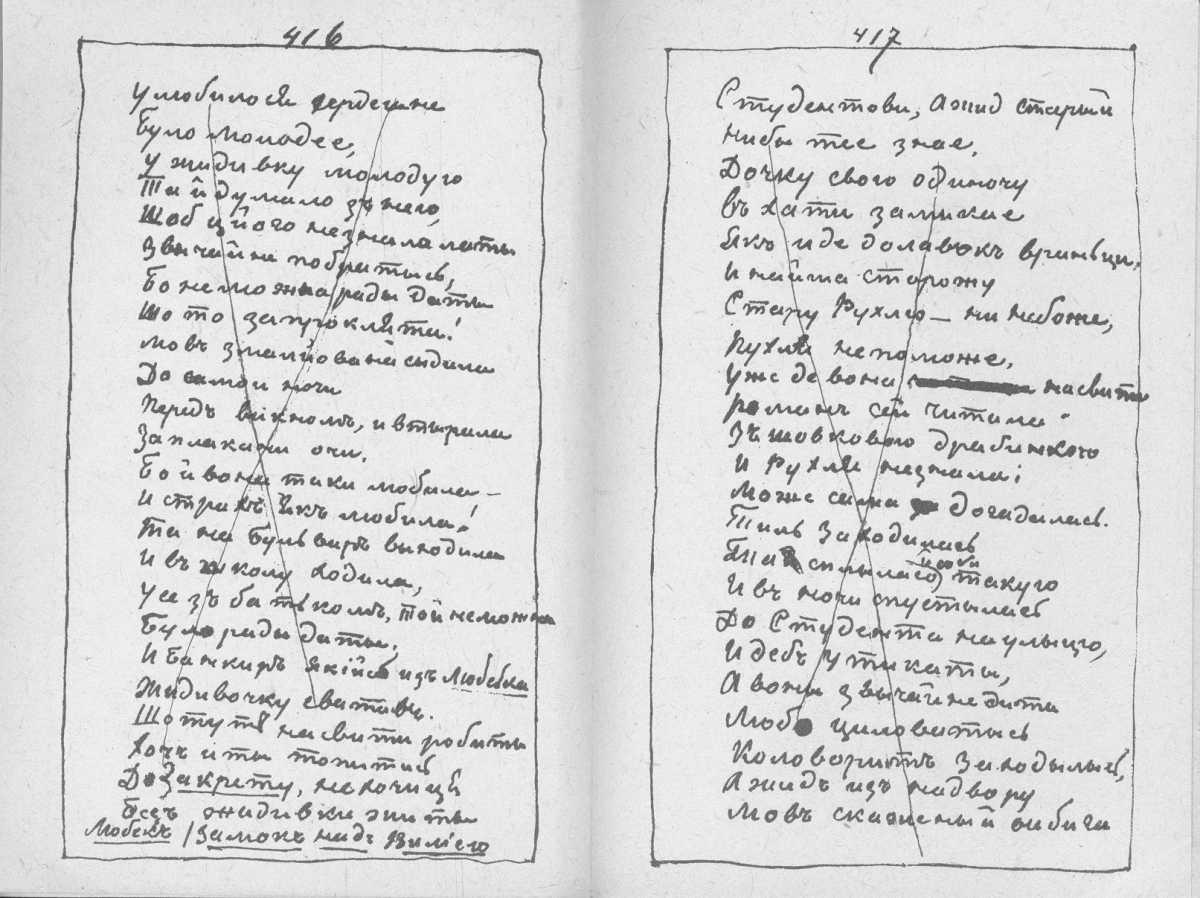 «Мала книжка» Т. Шевченка. С. 416 –…