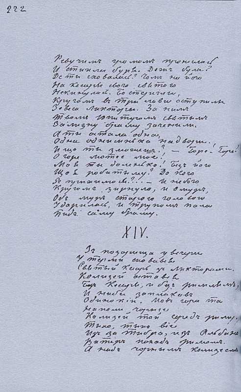 «Більша книжка» Т. Шевченка. С. 222…