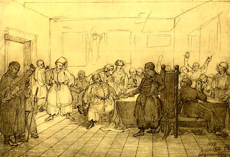 Taras Shevchenko. Cossack feast