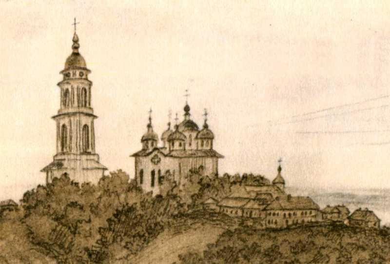 Тарас Шевченко. Дзвіниця та собор