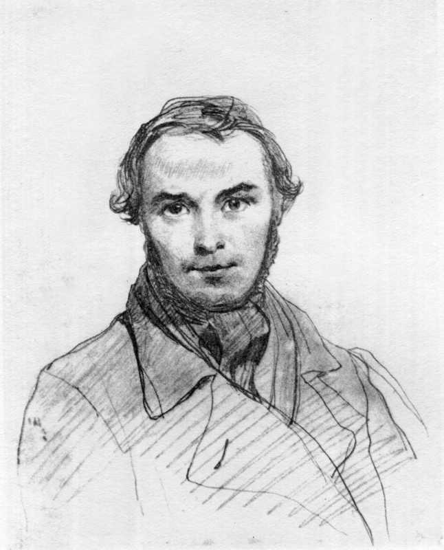 Taras Shevchenko. Self-portrait 1845
