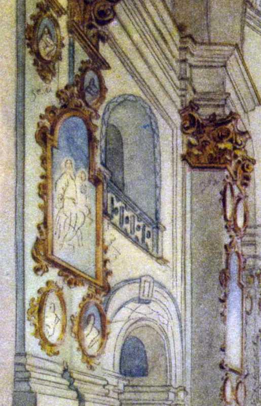 Тарас Шевченко. Фрагмент лівої стіни