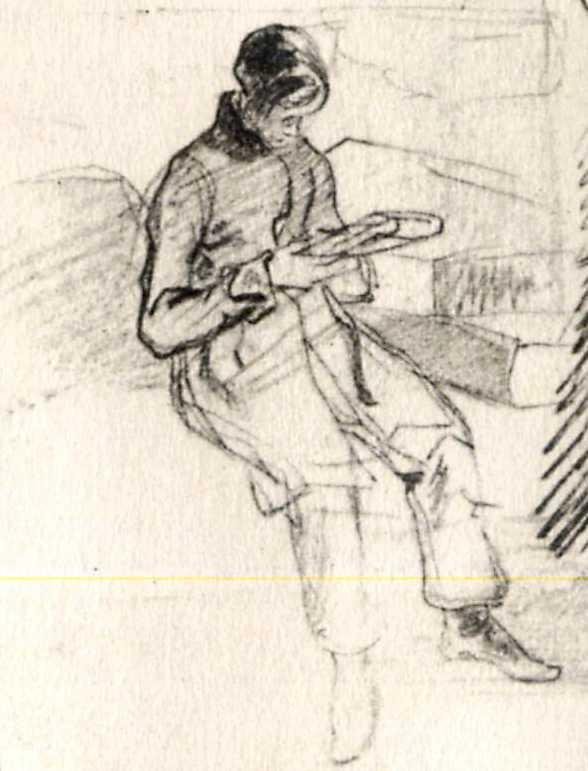 Тарас Шевченко. Панич з книжкою. Начерк