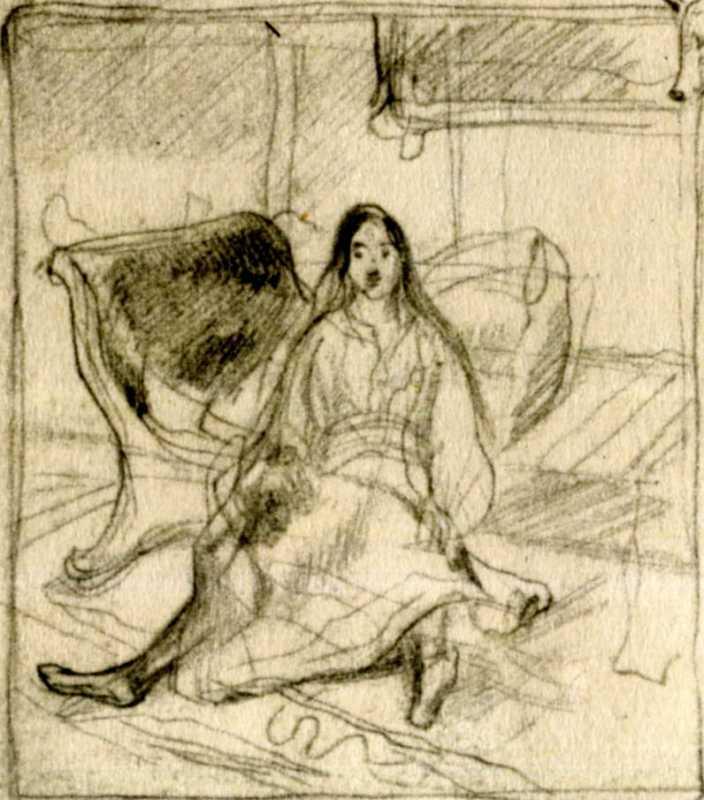 Тарас Шевченко. Оксана (1). Начерк