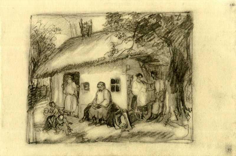 Taras Shevchenko. Peasant family. Sketch