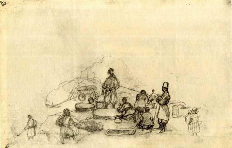 Taras Shevchenko. Cooks (fol. 19 r.)