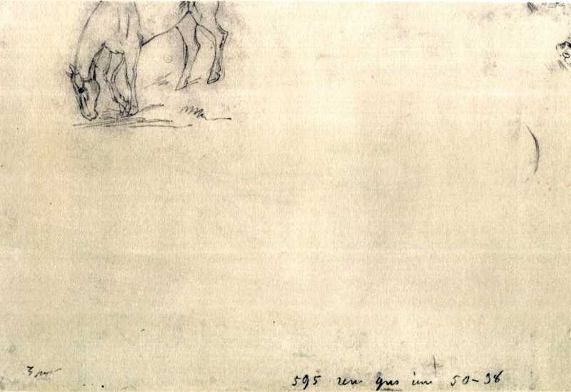 Taras Shevchenko. Horse. Sketch