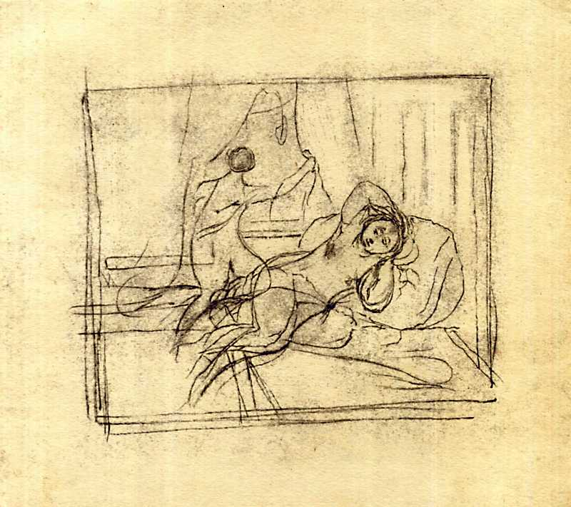 Taras Shevchenko. In the harem. Sketch