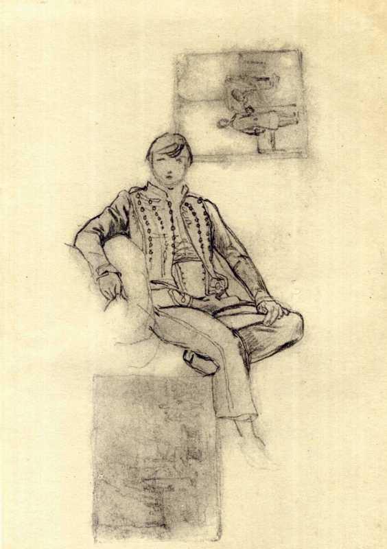 Тарас Шевченко. Портрет юноши. Эскиз