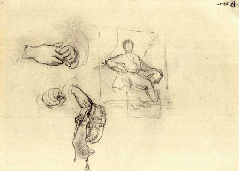 Тарас Шевченко. Портрет юнака. Ескіз (2)