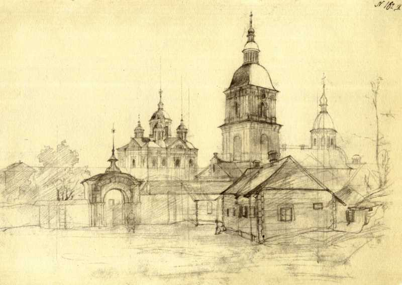 Тарас Шевченко. Киево-Межигорский…
