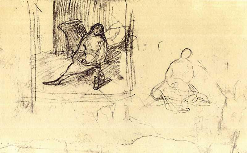 Тарас Шевченко. Оксана. Ескізи (2)