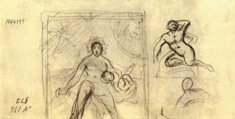 Taras Shevchenko. Bacchante. Sketches