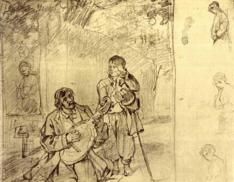 Taras Shevchenko. Blind. Sketch