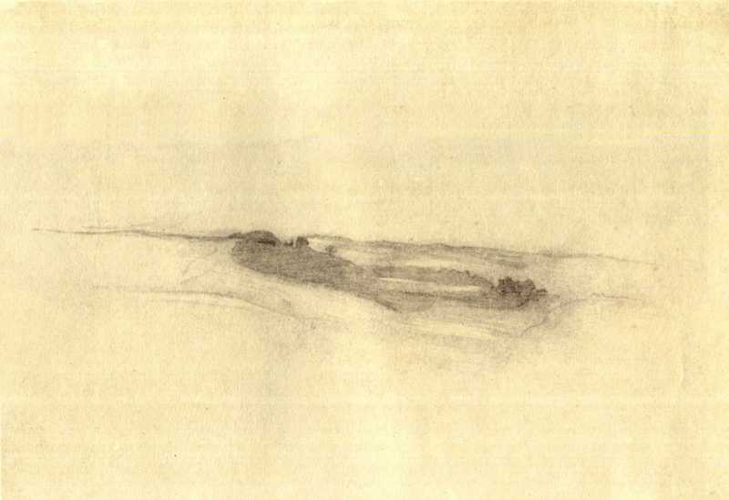 Taras Shevchenko. Landscape. Sketch