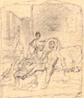 Taras Shevchenko. Sketch of genre scene
