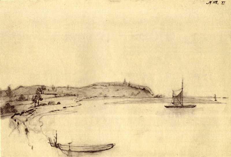 Taras Shevchenko. Vyshgorod (?). Sketch