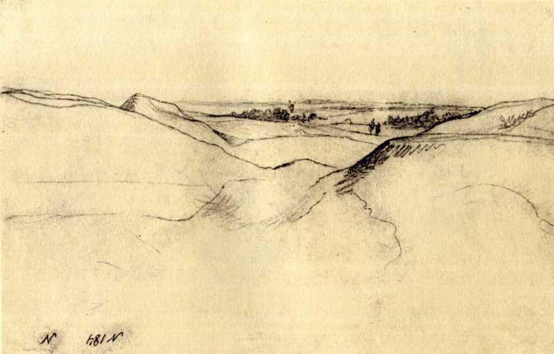Тарас Шевченко. Пейзаж. Начерк