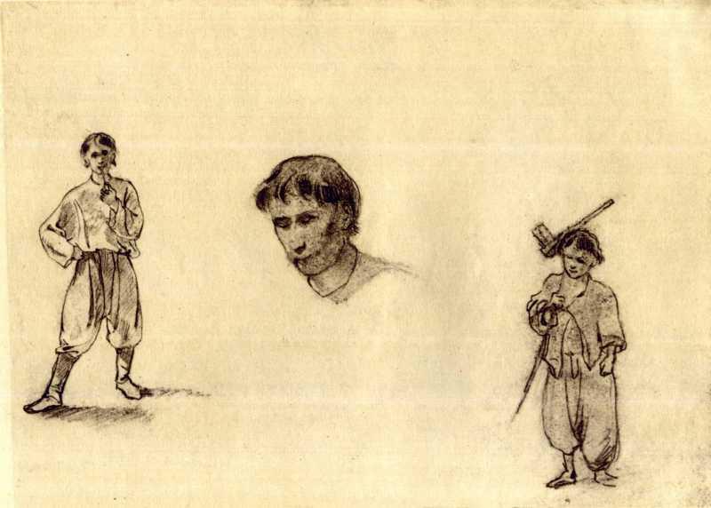 Taras Shevchenko. Young man with pipe