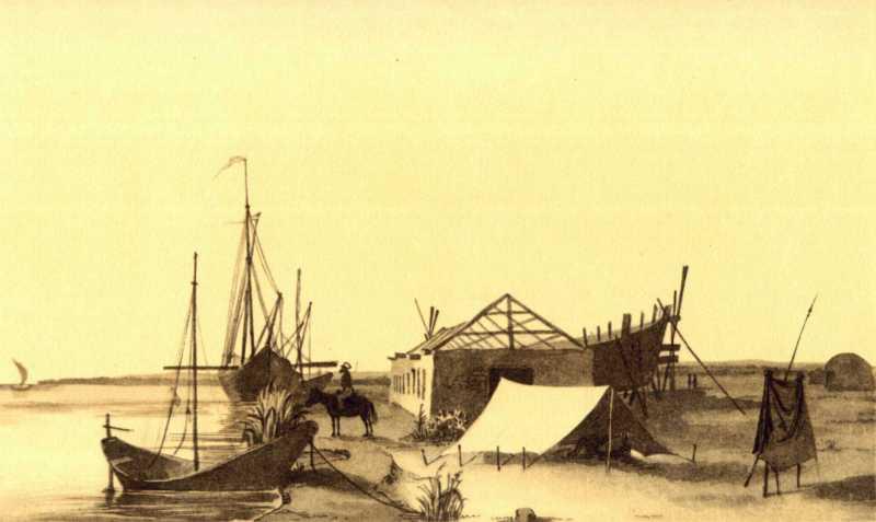 Taras Shevchenko. Dock on the Syr…