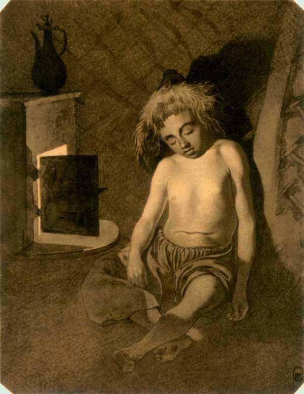 Taras Shevchenko. Kazakh boy sleeps…