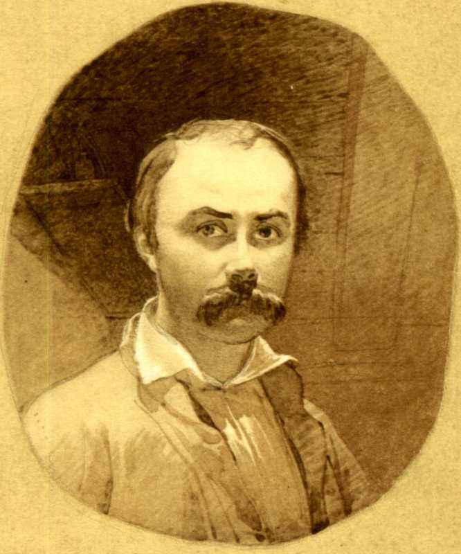 Taras Shevchenko. Self-portrait 1849