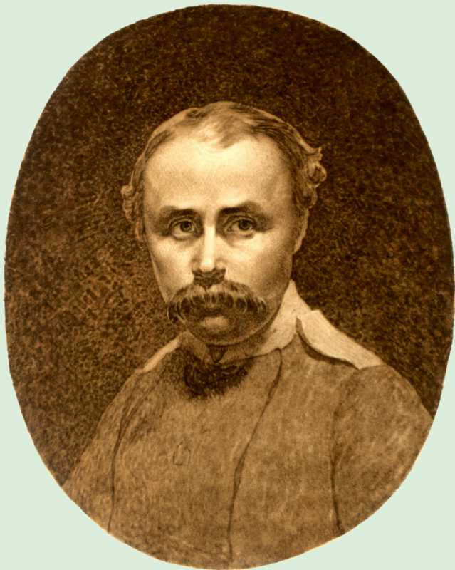 Taras Shevchenko. Self-portrait. [Orenburg]. [Not later than 29 Dec 1849]. Paper, Sepia (16: 13 6 cm).