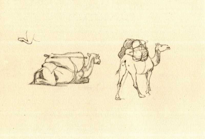 Taras Shevchenko. Laden camels (fol.…