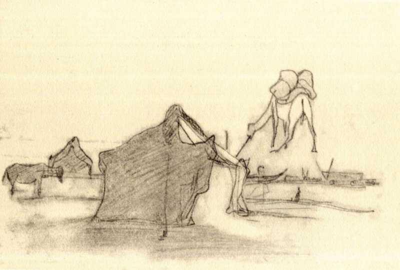 Taras Shevchenko. Tents of expedition…