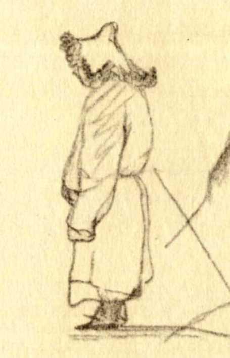 Taras Shevchenko. Figure of Kazakh