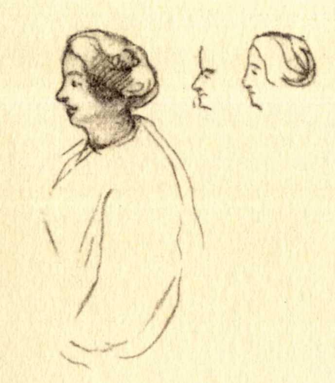 Taras Shevchenko. Women's faces