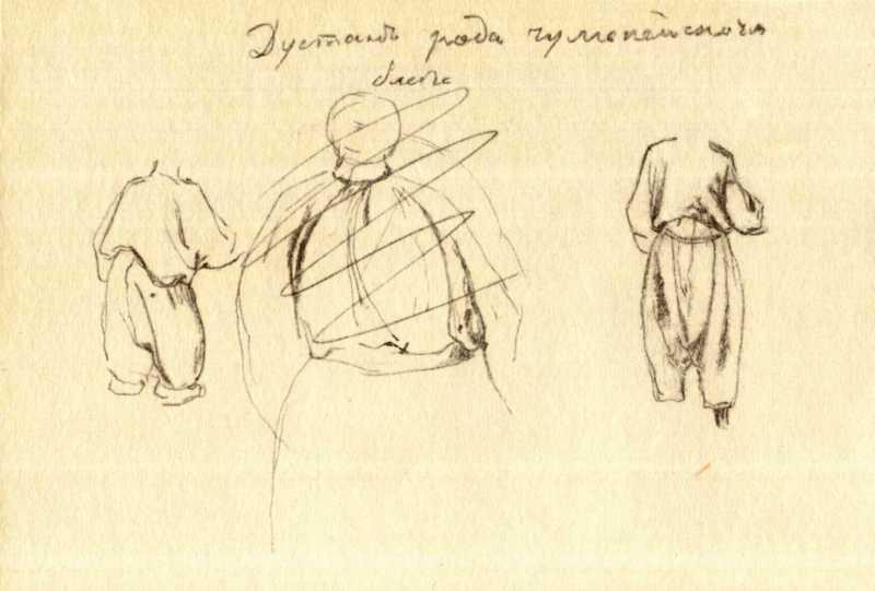 Тарас Шевченко. Крестьянская одежда…