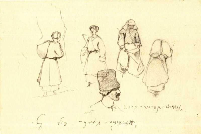 Taras Shevchenko. Peasants (fol. 51 v.)