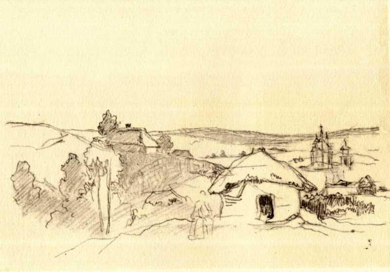 Тарас Шевченко. Сельский пейзаж (л. 53…