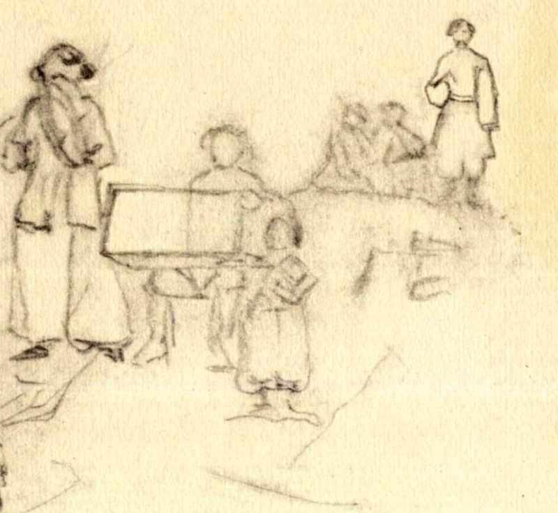 Тарас Шевченко. Сільські музики