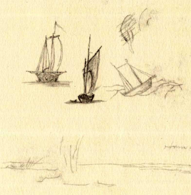 Taras Shevchenko. Boats with sails