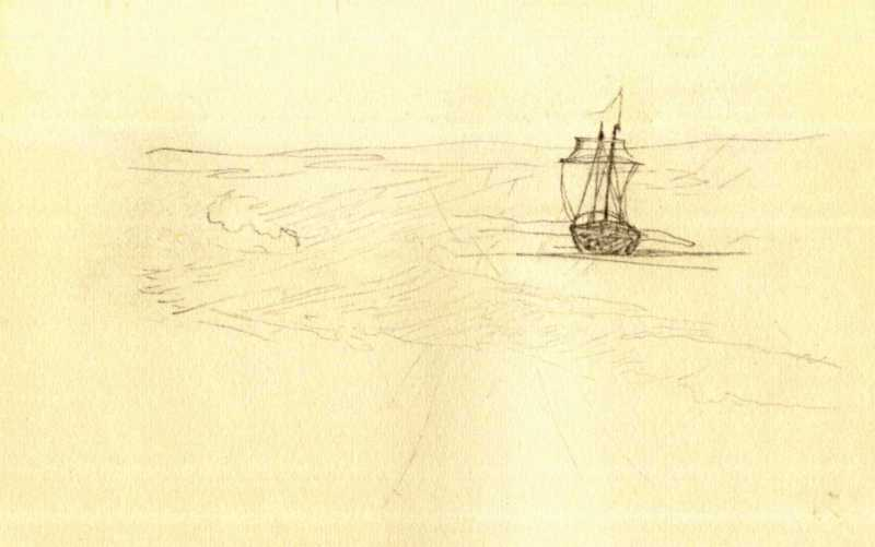 Taras Shevchenko. Schooner sailing…